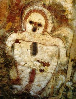 Peintures rupestres aborigènes trouvées dans un grenier;o)